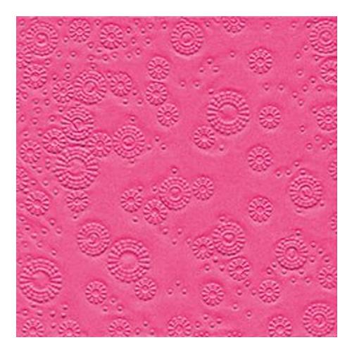 Servietten Moments geprägt (16 Stück) - pink