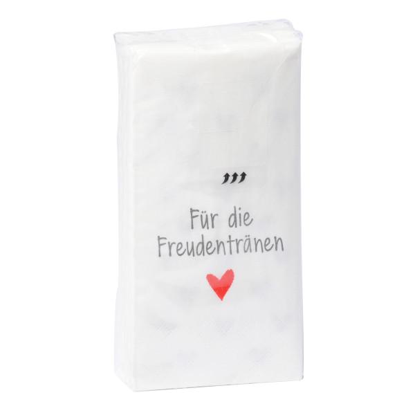 Taschentücher 'Für die Freudentränen' 10 Stück