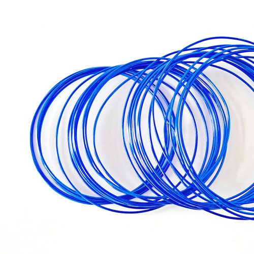 Basteldraht / Dekodraht 2 mm rund 12 m - Blau