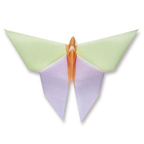 Dinnerservietten Origami Schmetterling (12 Stück) - lila, grün & orange