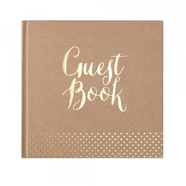 Gästebuch 'Guest Book' - kraft & gold