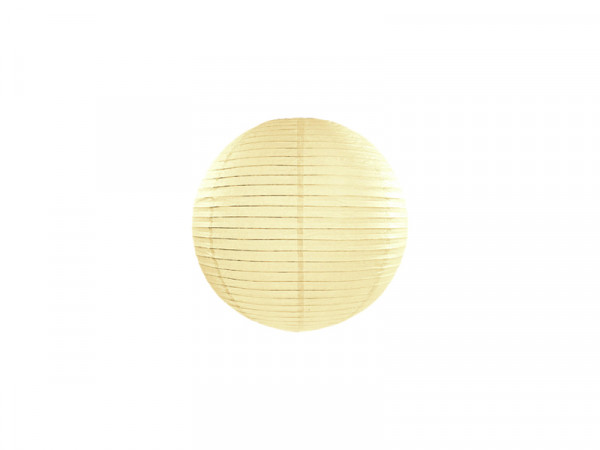 Laterne / Lampion rund 20 cm creme