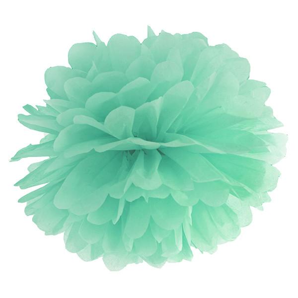 Pompom 35 cm mint