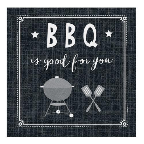 Servietten BBQ ist good for you (20 Stück) - schwarz
