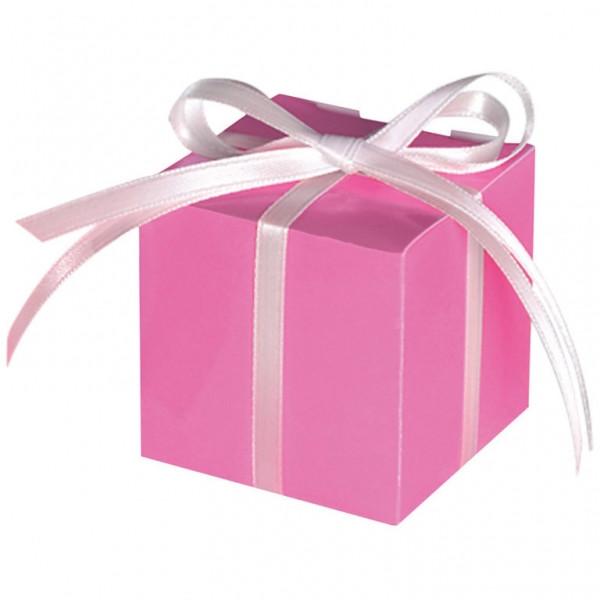 Geschenkbox / Kartonage (100 Stück) - pink