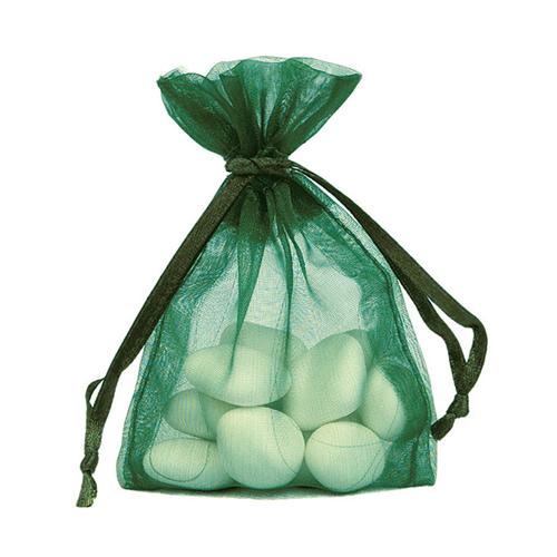 Organzasäckchen 7,5 x 10 cm grün (10 Stück)