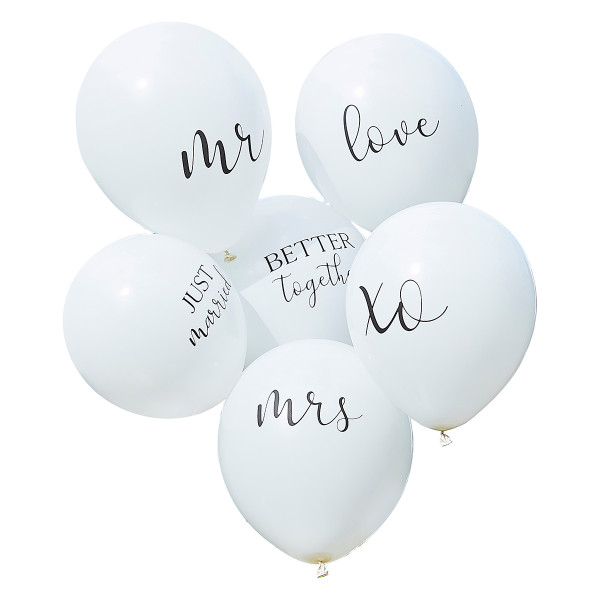 Botanical Party Ballon Set Hochzeit 6 Stück
