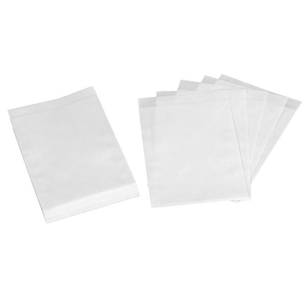 24 Flachbeutel / Tüten weiß 13 x 18 cm