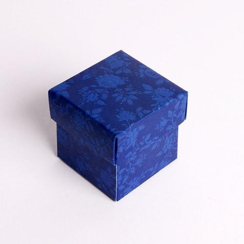 Kartonage 'Scatola' Fiorami - marineblau