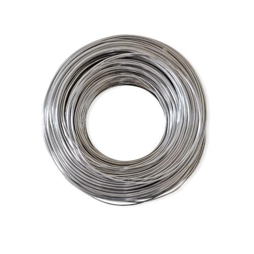 Basteldraht / Dekodraht 1 mm rund 120 m - Silber