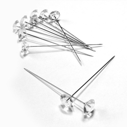 Dekonadeln Diamant 11 mm 55 Stück