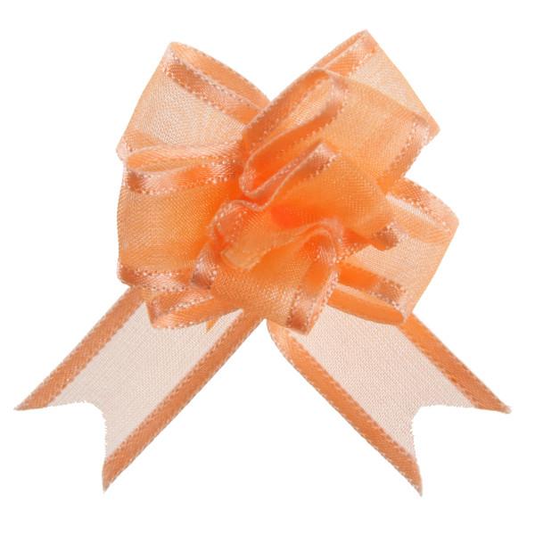 Organzaschleife / Automatikschleife 'Mini' (5 Stück) - apricot