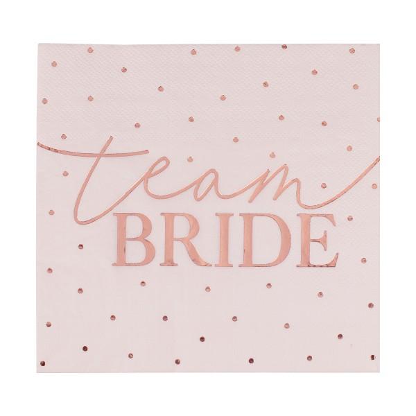 Blush Party Team Bride Servietten 16 Stück