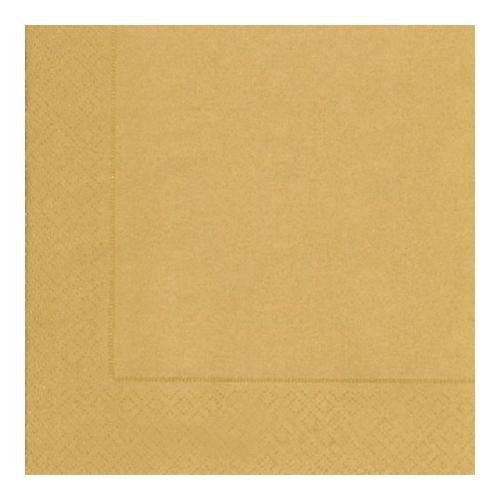 Servietten Uni (20 Stück) - gold
