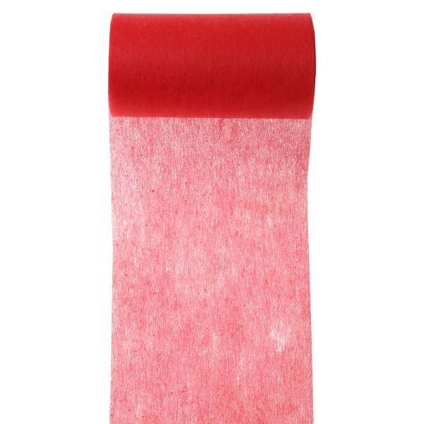 Servietten- / Tischband 10 cm x 10 m - rot