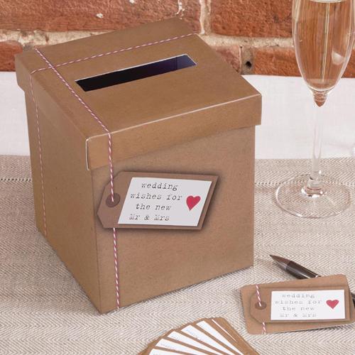 Briefbox / Geschenkbox 'Just my Type' 15 x 15 x 17 cm