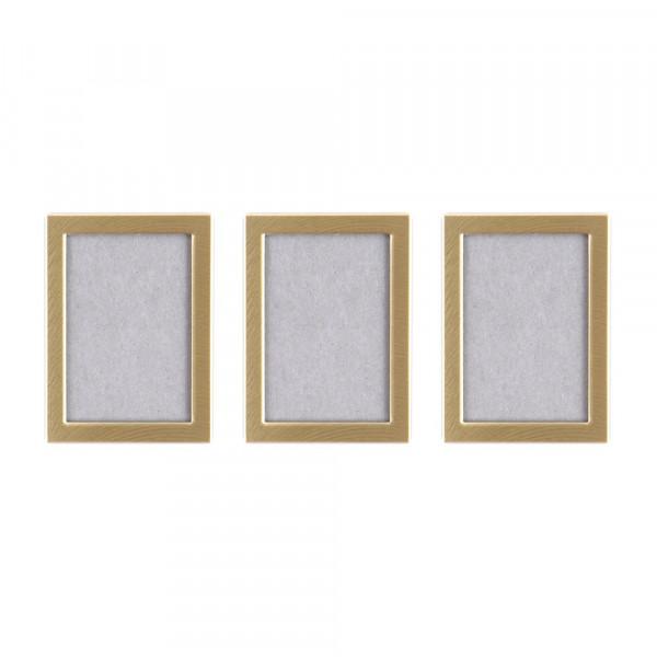 Bilderrahmen mit Magnet - gold (3 Stück)