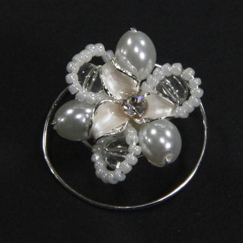 Curlies Emailblüte Perlen & Strass - 5 Stk.