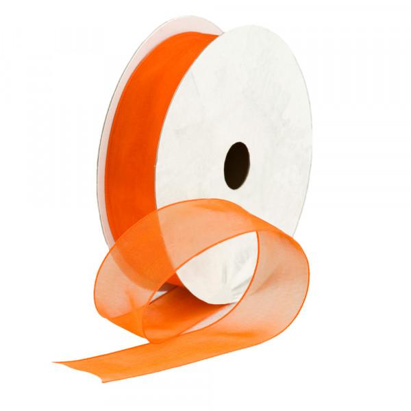 Organzaband 25 mm x 25 m - orange