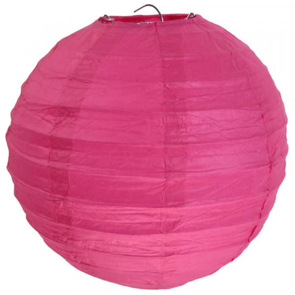 Laterne / Lampion rund 30 cm - pink (2 Stück)