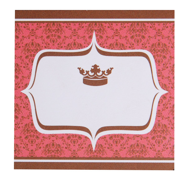 Tischkarte - Vintage Krone (1 Stück)