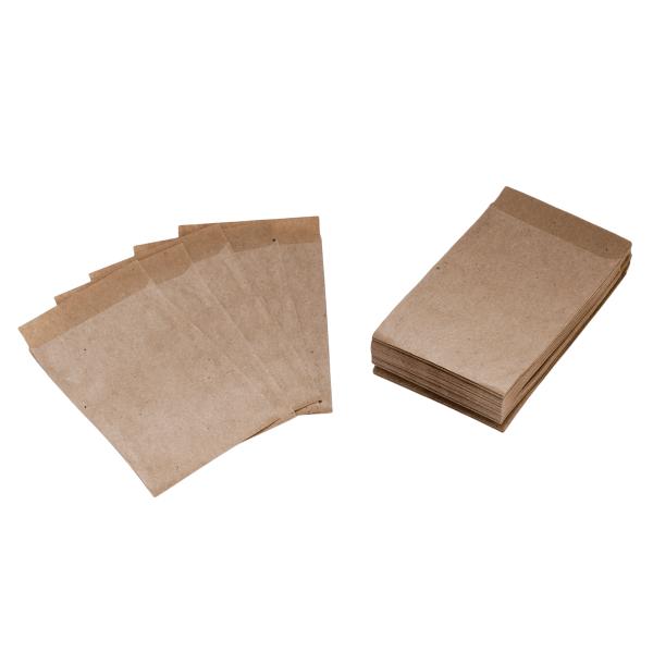 50 Mini Flachbeutel / Tüten Kraftpapier 6,3 x 9,3 cm