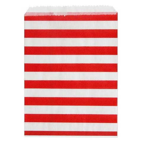 24 Adventskalender Tüten 'Streifen' zum Befüllen - rot & weiß