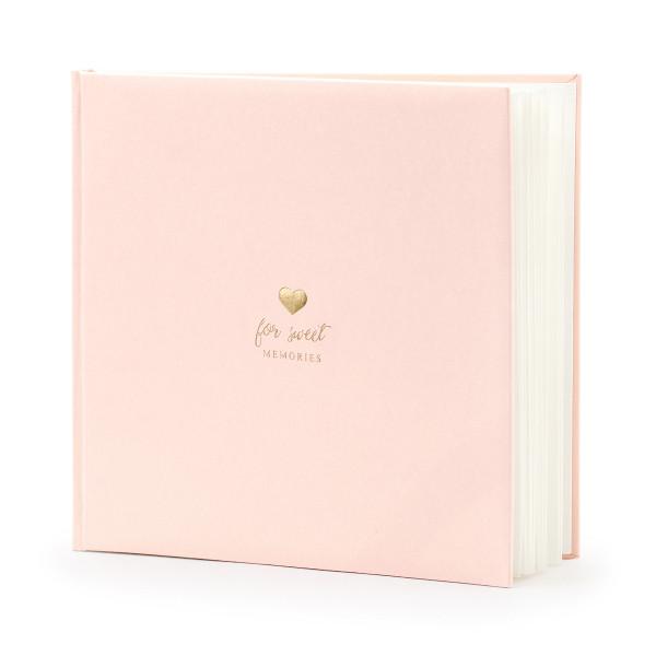 Gästebuch 'For Sweet Memories' rosa