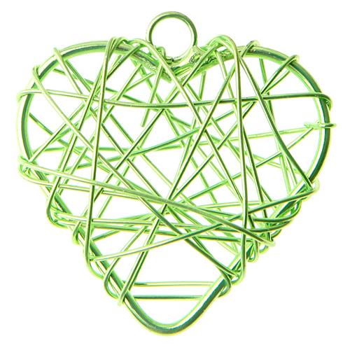 Anhänger 'Herzen' (6 Stück) - hellgrün