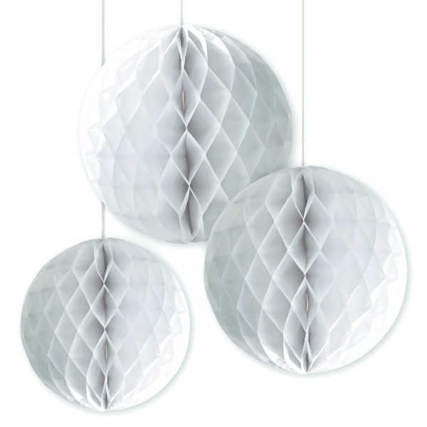 Honeycombs / Wabenbälle (3 Stück) - weiß