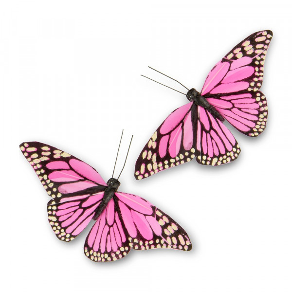 Schmetterlinge pink (12 Stück)