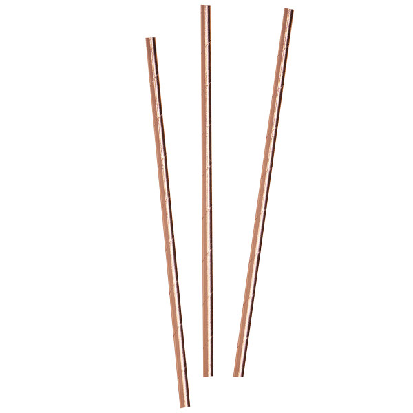 Strohhalme / Trinkhalme (25 Stück) - roségold