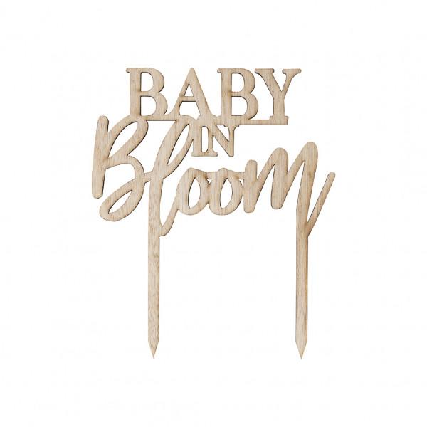 Baby in Bloom Tortenstecker Holz - natur