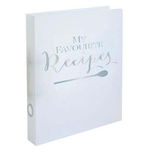 Rezeptordner / Rezeptbuch 'My favourite recipes' DIN A4 - silber