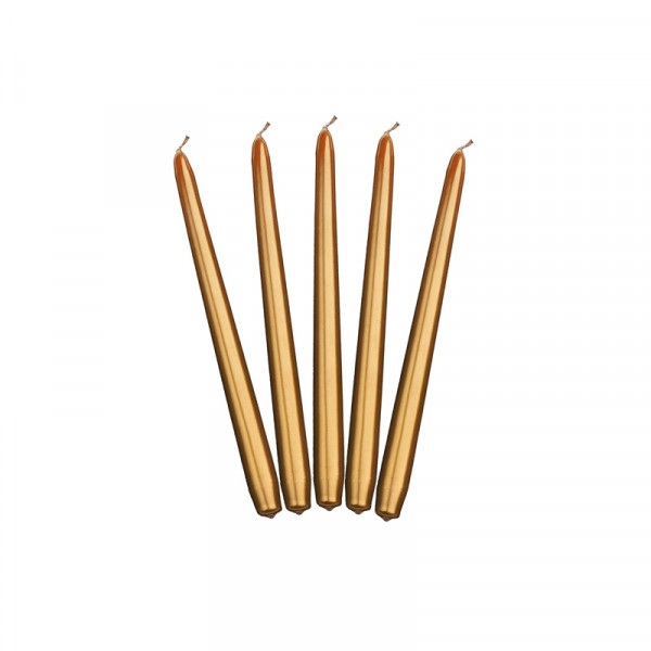 Spitzkerzen (10 Stück) - gold