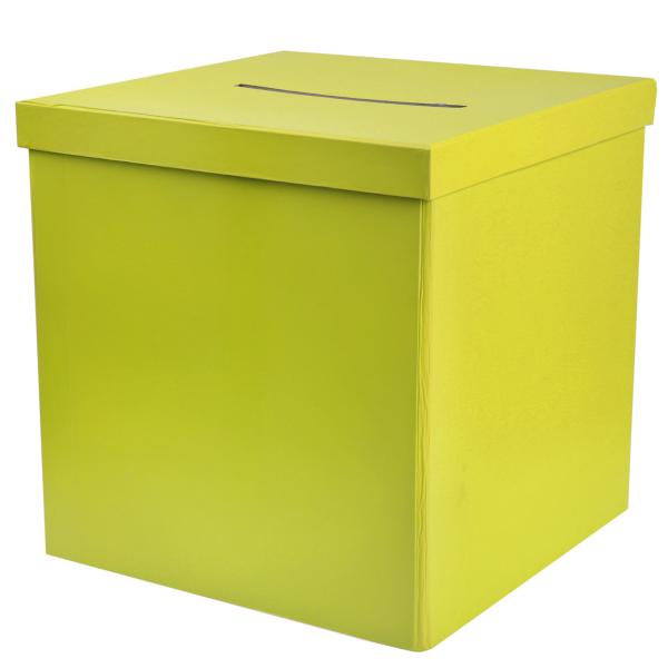 Briefbox / Geschenkbox 20 x 20 cm - hellgrün