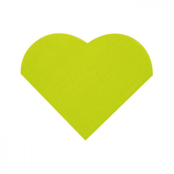 Cocktailservietten Herz (20 Stück) - hellgrün
