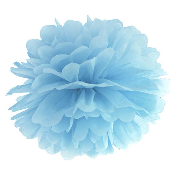 Pompom 35 cm hellblau