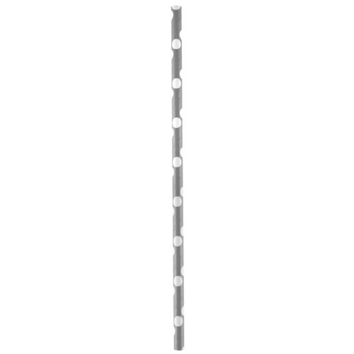 Strohhalme / Trinkhalme 'Dots' (20 Stück) - grau