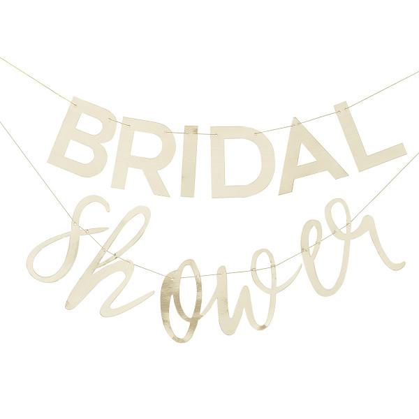 Botanical Party Bridal Shower Girlande Gold 2 m